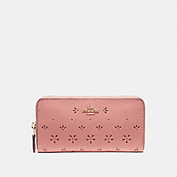 ACCORDION ZIP WALLET - f29383 - Vintage Pink/Imitation Gold