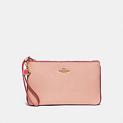COACH F29398 Large Wristlet With Charms NUDE PINK/IMITATION GOLD
