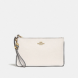 COACH F29398 Large Wristlet With Charms CHALK/LIGHT GOLD
