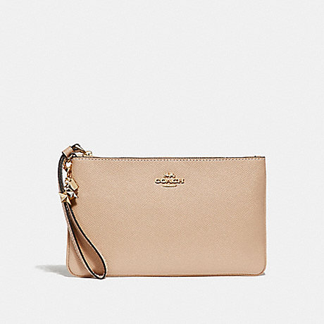 COACH LARGE WRISTLET WITH CHARMS - BEECHWOOD/light gold - f29398