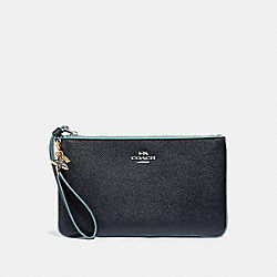 COACH F29398 Large Wristlet With Charms MIDNIGHT NAVY/SILVER