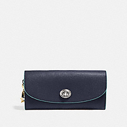 COACH F29407 Slim Envelope Wallet MIDNIGHT NAVY/SILVER