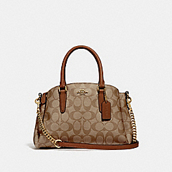COACH F29434 - MINI SAGE CARRYALL IN SIGNATURE CANVAS KHAKI/SADDLE 2/IMITATION GOLD