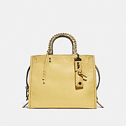 COACH F29437 - ROGUE WITH SNAKESKIN HANDLES BP/SUNFLOWER