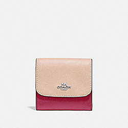 COACH F29450 Small Wallet In Colorblock SILVER/PINK MULTI