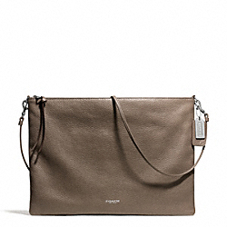 COACH F29461 Bleecker Leather Daily Shoulder Bag SILVER/SILT