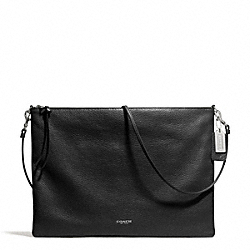 COACH F29461 - BLEECKER DAILY SHOULDER BAG IN LEATHER  SILVER/BLACK