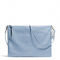 COACH F29461 Bleecker Leather Daily Shoulder Bag SILVER/CORNFLOWER