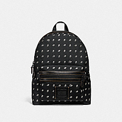 COACH F29479 - ACADEMY BACKPACK WITH DOT DIAMOND PRINT MW/BLACK/CHALK