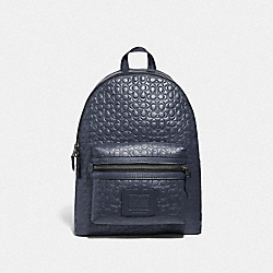 ACADEMY BACKPACK IN SIGNATURE LEATHER - F29493 - QB/MIDNIGHT NAVY