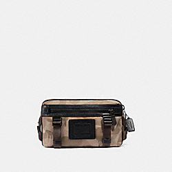 COACH F29497 - UTILITY PACK WITH WILD BEAST PRINT KHAKI/BLACK COPPER FINISH