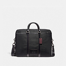 COACH F29515 Metropolitan Double Zip Business Case QB/BLACK/BLACK