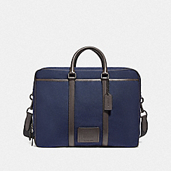COACH F29515 Metropolitan Double Zip Business Case QB/BRIGHT NAVY/CHESTNUT