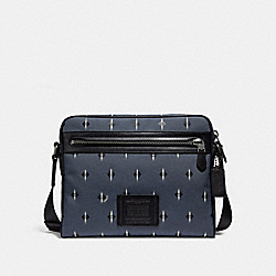 COACH F29520 Metropolitan Camera Bag With Ikat Geo Print GREY/CHALK/BLACK ANTIQUE NICKEL
