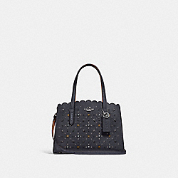 COACH F29528 - CHARLIE CARRYALL 28 WITH PRAIRIE RIVETS MIDNIGHT NAVY/SILVER