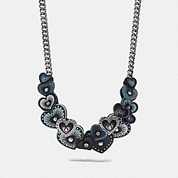 COACH F29532 - HEART NECKLACE MIDNIGHT NAVY MULTI/SILVER