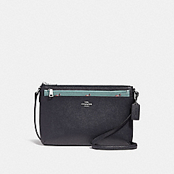 EAST/WEST CROSSBODY WITH POP-UP POUCH WITH FLAMINGO PRINT - f29556 - SVNGV