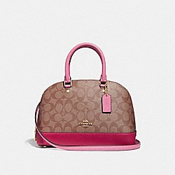 COACH F29566 Mini Sierra Satchel In Colorblock Signature Canvas KHAKI/MULTI/IMITATION GOLD