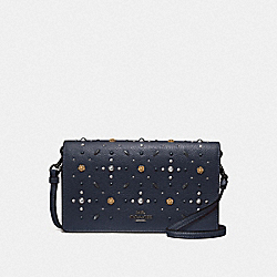COACH F29575 - HAYDEN FOLDOVER CROSSBODY CLUTCH WITH PRAIRIE RIVETS DK/MIDNIGHT NAVY