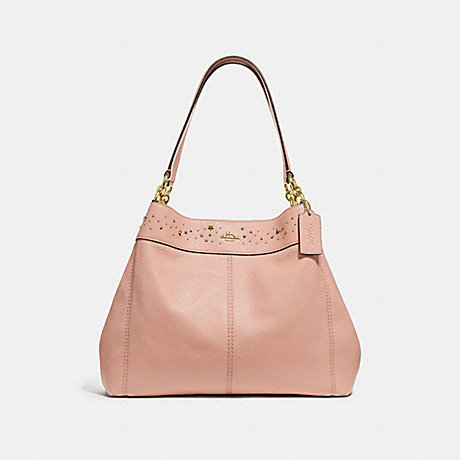 COACH f29595 LEXY SHOULDER BAG WITH CELESTIAL BORDER STUDS nude pink/light gold