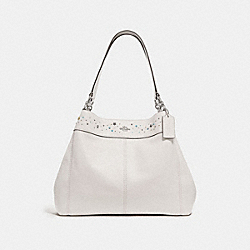LEXY SHOULDER BAG WITH CELESTIAL BORDER STUDS - f29595 - SILVER/CHALK