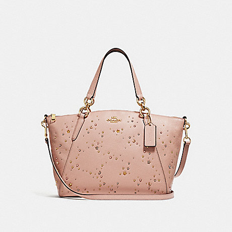 87c5e029c45f COACH f29597 SMALL KELSEY SATCHEL WITH CELESTIAL STUDS nude pink/light gold