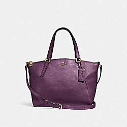 COACH F29639 Mini Kelsey Satchel METALLIC RASPBERRY/LIGHT GOLD