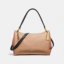 COACH F29658 Mia Shoulder Bag In Colorblock SUNRISE MULTI/LIGHT GOLD