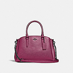 COACH F29665 - MINI SAGE CARRYALL METALLIC MAGENTA/BLACK ANTIQUE NICKEL