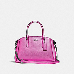 COACH F29665 Mini Sage Carryall METALLIC CERISE/BLACK ANTIQUE NICKEL
