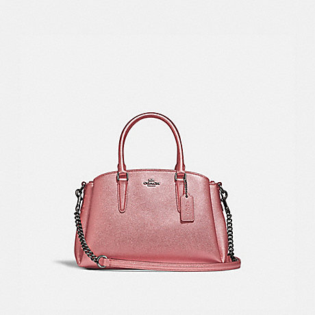 COACH F29665 MINI SAGE CARRYALL QB/METALLIC-DARK-BLUSH