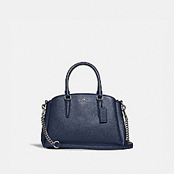 COACH F29665 - MINI SAGE CARRYALL SV/METALLIC BLUE