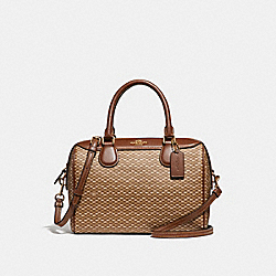 MINI BENNETT SATCHEL WITH LEGACY PRINT - f29669 - NEUTRAL/light gold
