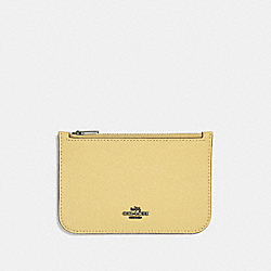 COACH F29688 Zip Card Case SUNFLOWER/DARK GUNMETAL