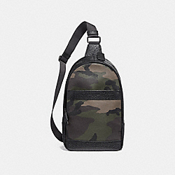 CHARLES PACK WITH CAMO PRINT - f29713 - DARK GREEN MULTI/BLACK ANTIQUE NICKEL