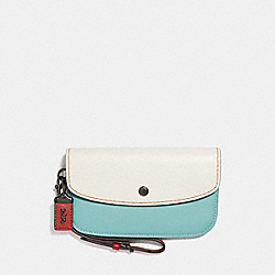 CLUTCH IN COLORBLOCK - F29769 - CHALK MULTI/BLACK COPPER