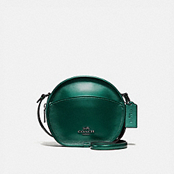 COACH F29794 - CANTEEN CROSSBODY METALLIC GREEN/BLACK ANTIQUE NICKEL