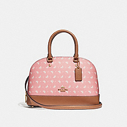 MINI SIERRA SATCHEL WITH BUTTERFLY DOT PRINT - f29804 - Blush/Chalk/LIGHT GOLD