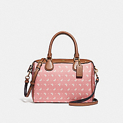 MINI BENNETT SATCHEL WITH BUTTERFLY DOT PRINT - f29806 - Blush/Chalk/LIGHT GOLD