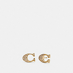 COACH SIGNATURE STUD EARRINGS - GOLD - F29824