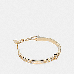 OPEN CIRCLE PAVE BRACELET - f29826 - GOLD