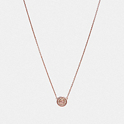 COACH F29828 - PAVE PENDANT NECKLACE ROSEGOLD