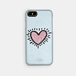 COACH F29844 - COACH X KEITH HARING IPHONE 6S/7/8 CASE ICE BLUE