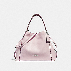 EDIE SHOULDER BAG 28 WITH SCALLOPED DETAIL - F29847 - ICE PINK/SILVER