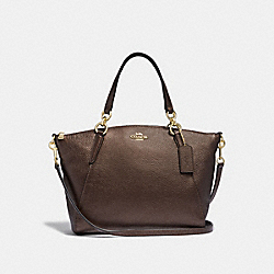 SMALL KELSEY SATCHEL - F29867 - BRONZE/LIGHT GOLD