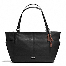 COACH F29898 - PARK LEATHER CARRIE TOTE SILVER/BLACK