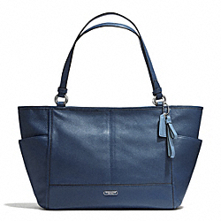 COACH F29898 - PARK LEATHER CARRIE TOTE SILVER/DENIM