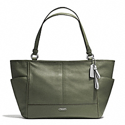 COACH F29898 - PARK LEATHER CARRIE TOTE SILVER/OLIVE