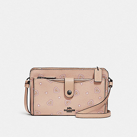 COACH F29910 NOA POP-UP MESSENGER WITH WESTERN HEART PRINT DK/BEECHWOOD-WESTERN-HEART