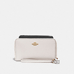 COACH F29943 Phone Wallet With Charms CHALK/IMITATION GOLD